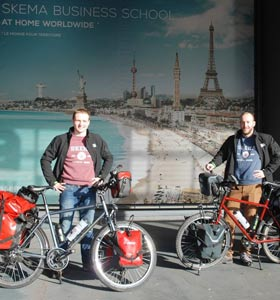 Students' 8000-km bike ride to the China campus