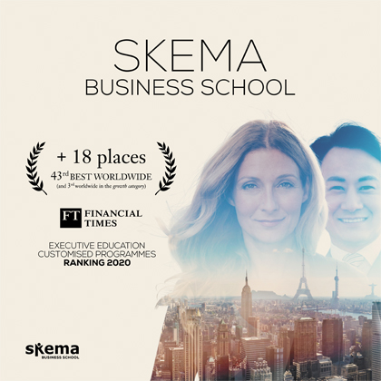 Executive Education: SKEMA continues its progression in the Financial Times 2020 annual global ranking