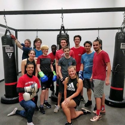 US campus: students take part in NCSU boxing club
