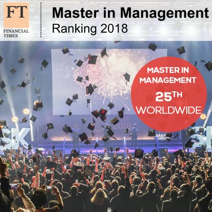 Master in Management in FT's top 25 worldwide, 5th in France