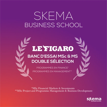 Le Figaro selects two SKEMA programmes in its list of best courses