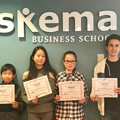 US campus: school kids' annual maths and finance contest - SKEMA