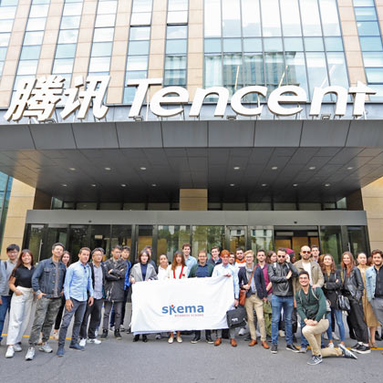 Suzhou campus students visit internet giant Tencent