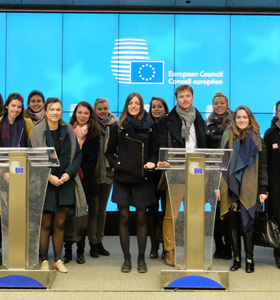 Students visit EU institutions in Brussels